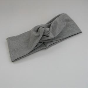TurbanStirnband  graumelange Handarbeit von zimtblüte  TurbanHaarband   kaufen