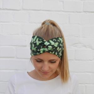 !SALE! TurbanStirnband Modell SCHMETTERLING Handarbeit von zimtblüte  TurbanHaarband mit Twist kaufen