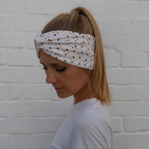 TurbanStirnband Modell RAUTE Handarbeit von zimtblüte  TurbanHaarband mit Twist kaufen