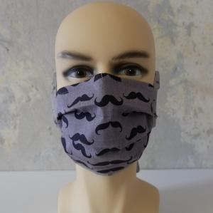 Mund-Nasen-Maske, Behelfsmaske SCHNURRBART auch für Männer von zimtblüte