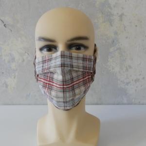 Mund-Nasen-Maske, Behelfsmaske KARO auch für Männer von zimtblüte