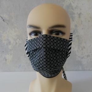Mund-Nasen-Maske, Behelfsmaske SCHWARZ auch für Männer von zimtblüte