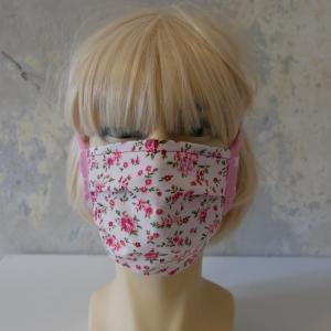 Mund-Nasen-Maske, Behelfsmaske ROSE  für Frauen von zimtblüte