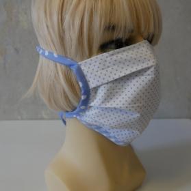 Mund-Nasen-Maske, Behelfsmaske PUNKTE für Frauen und Männer von zimtblüte