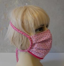 Mund-Nasen-Maske, Behelfsmaske DOTS für Frauen von zimtblüte