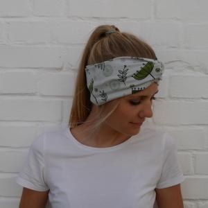 Turban Stirnband mit SCHIRMCHEN  mit Twist Handarbeit von zimtblüte  Haarband