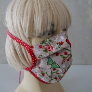 Mund-Nasen-Maske, Behelfsmaske SCHMETTERLING für Frauen von zimtblüte
