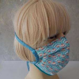 Mundmaske, Maske, Behelfsmaske PUSTEBLUME türkis für Frauen von zimtblüte    Staubmaske
