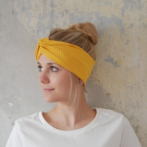 GELB mit Twist Haarband im Turbanstyle von zimtblüte