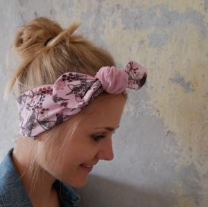 KnotenStirnband VÖGELCHEN Haarband  mit Schleife gelb von zimtblüte