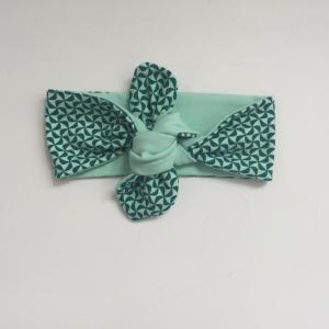 KnotenStirnband WINDRAD Haarband  mit Schleife türkis von zimtblüte