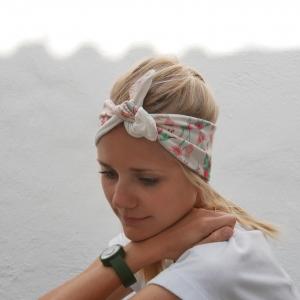 Modell KOLIBRI KnotenStirnband Haarband  mit Schleife von zimtblüte