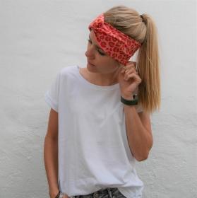LEO TurbanStirnband im Animalprint handmade Haarband mit Twist von zimtbluete     - Handarbeit kaufen