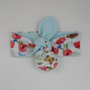 ! SALE ! Haarband MOHNBLUME Stirnband mit Schleife zum Knoten von zimtblüte  - Handarbeit kaufen