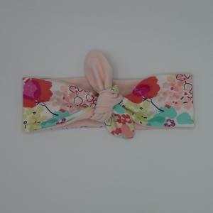 ! SALE ! PASTELL Stirnband Haarband mit Schleife zum Knoten Handmade von zimtblüte   - Handarbeit kaufen
