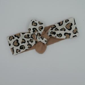 LEOPRINT  Haarband mit Schleife zum Knoten Handmade Stirnband von zimtblüte