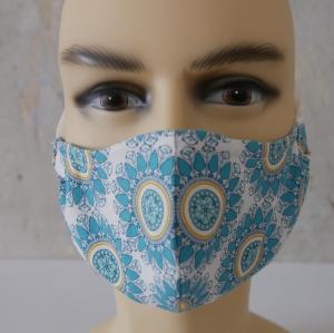 Mund-Nasen-Maske, Behelfsmaske Alltagsmaske mit Nasensteg von zimtblüte