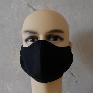 SCHWARZ Mund-Nasen-Maske, Behelfsmaske Alltagsmaske ergonomisch ohne Nasenbügel von zimtblüte