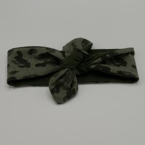 ! SALE ! LEO Stirnband Haarband mit Schleife zum Knoten Handmade von zimtblüte   - Handarbeit kaufen