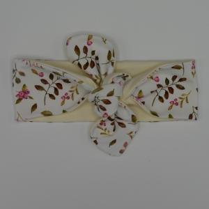 Stirnband Haarband mit BEEREN  Schleife zum Knoten Handmade von zimtblüte   - Handarbeit kaufen