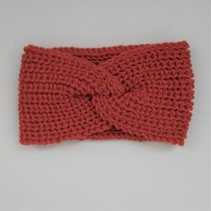 LAST MINUTE Knoten Stirnband Modell CARO helles KUPFER mit Twist von zimtblüte handgestrickt   - Handarbeit kaufen