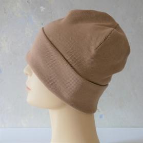 MännerBeanie  SAND Hipster Rippenjersey HerrenMütze von zimtblüte  - Handarbeit kaufen