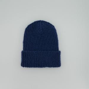 Herrenmütze BASIC KÖNIGSBLAU handgestrickt  Wollbeanie unisex von zimtblüte    - Handarbeit kaufen
