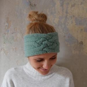 Stirnband *ZOE *  MINZE Handarbeit  aus Wolle von zimtblüte  - Handarbeit kaufen