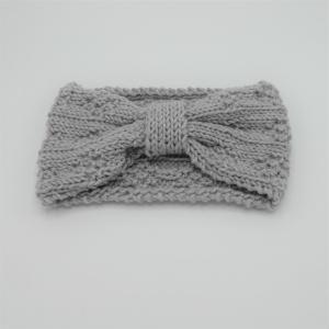 Stirnband in GRAUmelange aus Wolle handgestrickt  von zimtblüte - Handarbeit kaufen