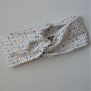 TurbanStirnband Modell SPRENKEL Handarbeit von zimtblüte  TurbanHaarband mit Twist kaufen     - Handarbeit kaufen