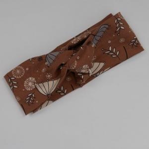Turban Stirnband mit SCHIRMCHEN Handarbeit von zimtblüte Haarband   kaufen - Handarbeit kaufen