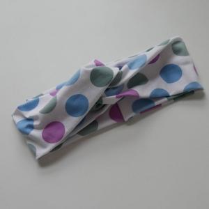 Stirnband mit Twist POLKADOTS von zimtblüte im Turbanstyle handmade