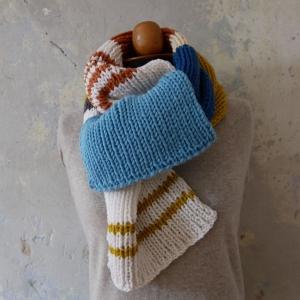XL Winterschal  EINZELSTÜCK NR.2 handgestrickt von zimtblüte warmer Schal für den Winter  - Handarbeit kaufen