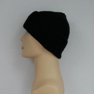 Mütze ANTON schwarz Fischermütze handgestrickt für Männer von zimtblüte   - Handarbeit kaufen