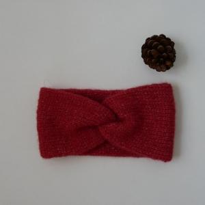 Stirnband Modell CARO double Wolle mit Alpaka von zimtblüte 2 Farben  - Handarbeit kaufen