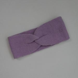 Stirnband Modell CARO double  zartes lila Wolle von zimtblüte handgestrickt kaufen  - Handarbeit kaufen