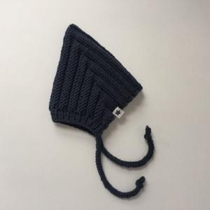 Pixiemütze ZWERGLEIN dunkelblau für Baby und Kind handgestrickt aus Wolle zimtblüte  - Handarbeit kaufen