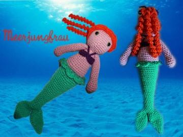 ♡ HÄKELANLEITUNG Meerjungfrau Marina ♡ amigoll9 ♡ Anleitung ♡ - Handarbeit kaufen