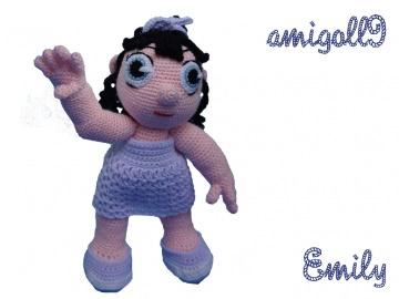 ♡ HÄKELANLEITUNG Puppe Emily ♡ amigoll9 ♡ Anleitung ♡ - Handarbeit kaufen