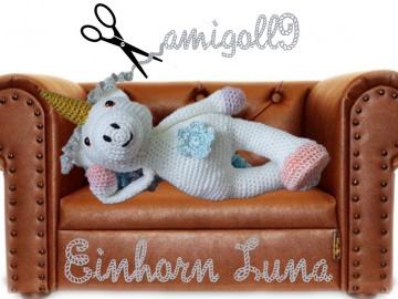 ♡ HÄKELANLEITUNG Einhorn Luna ♡ amigoll9 ♡ Anleitung ♡