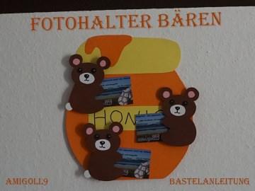 ♡ BASTELANLEITUNG Fotohalter Bären ♡ amigoll9 ♡ Anleitung ♡ - Handarbeit kaufen