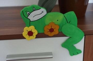 ♡ Kantenhocker oder Wandhänger Variante Frosch ♡ amigoll9 ♡ Deko ♡ Handarbeit ♡ - Handarbeit kaufen