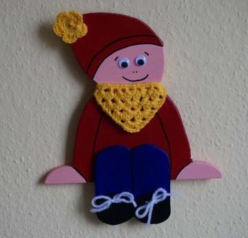 ♡ Kantenhocker oder Wandhänger Variante Wichtel (rot) ♡ amigoll9 ♡ Deko ♡ Handarbeit ♡