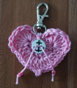 ♡ Schlüsselanhänger Herz ♡ amigoll9 ♡ Deko ♡ Handarbeit ♡ - Handarbeit kaufen
