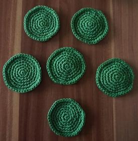 ♡ wiederverwendbare Wattepads ♡ Abschminkpads ♡ 6er Pack ♡ amigoll9 ♡ Deko ♡ Handmade ♡ - Handarbeit kaufen
