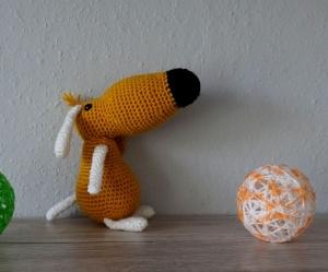 Amigurumi Häkelanleitung für den klugen Hund Bailey - Handarbeit kaufen