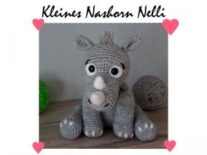 Amigurumi Häkelanleitung Kleines Nashorn Nelli - Handarbeit kaufen