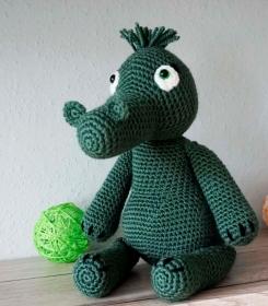 Amigurumi Häkelanleitung für das nette Krokodil Kroki ♥ - Handarbeit kaufen