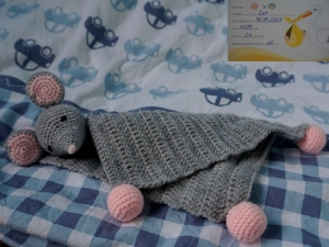 Häkelanleitung Schnuffeltuch Maus Leo ♥ - Handarbeit kaufen
