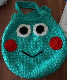 Häkelanleitung Tasche im Frosch Design - Handarbeit kaufen